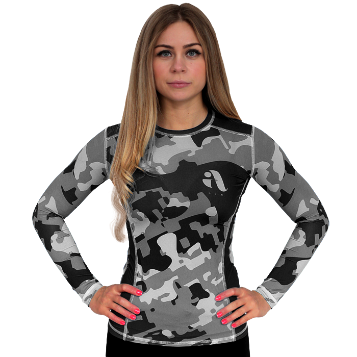 Женский рашгард Aim Military Uniqueness Skin Grey
