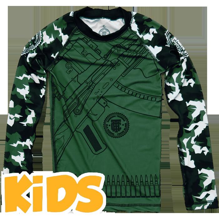 Купить Детская спортивная одежда для единоборств, Рашгард Hardcore Training, Training