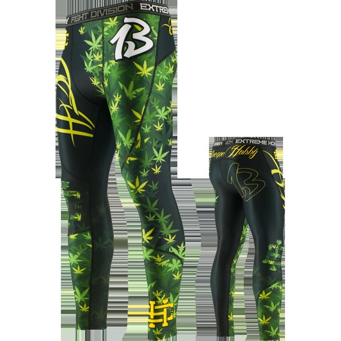 Купить Компрессионные штаны, спортивные для ММА, БЖЖ, Штаны Extreme Hobby, Hobby