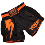 Тайские шорты Venum Giant Black/Neo Orange