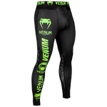 Леггинсы Venum Logos Black/Neo Yellow