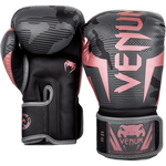 Перчатки Venum Elite Black/Pink Gold